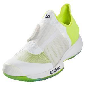 Men`s Kaos Mirage Tennis Shoes White and Safety Yellow