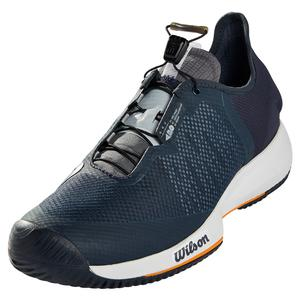 Men`s Kaos Rapide Tennis Shoes Outer Space and White