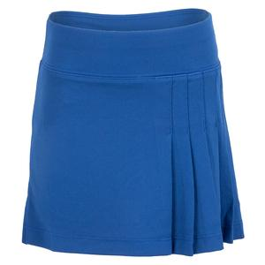 Girls` Side Pleat Tennis Skort Navy Blue