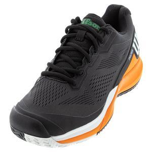 Men`s Rush Pro 3.5 Paris Tennis Shoes Black and Orange Tiger