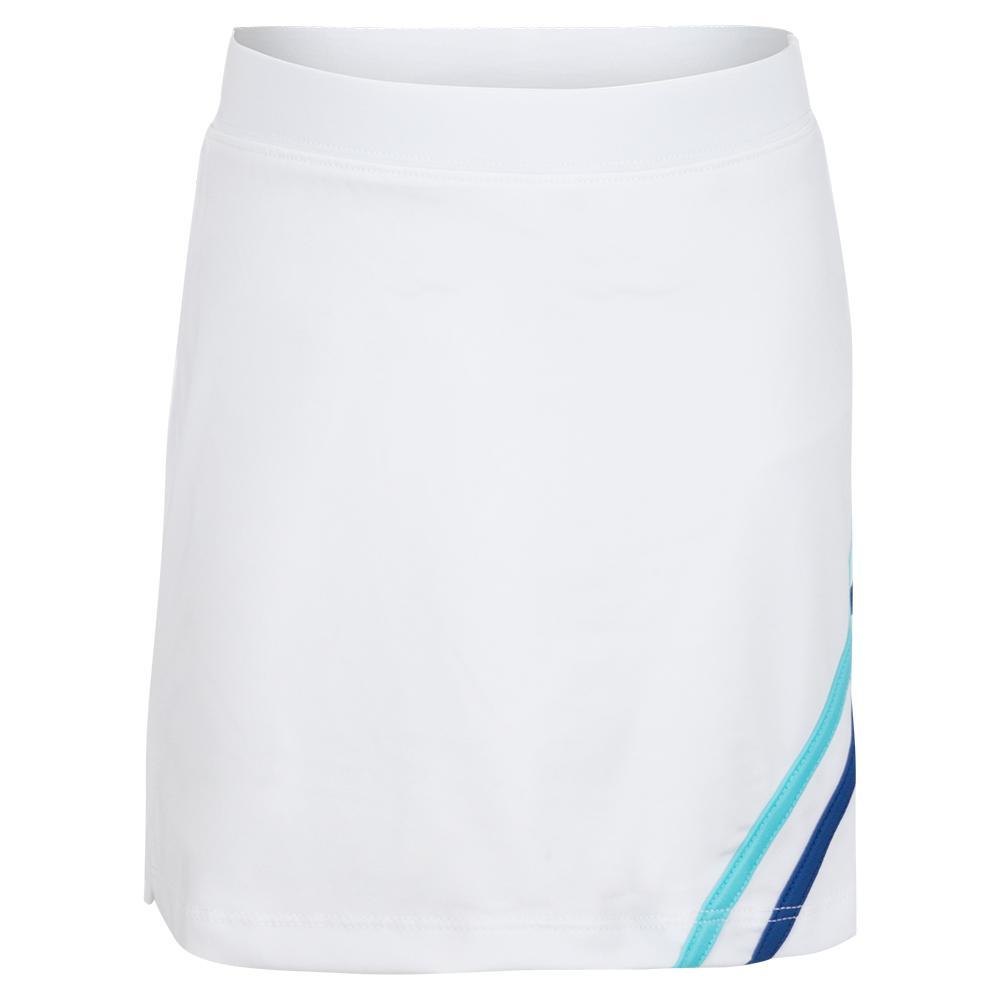 Girls ` Chevron Trim Tennis Skort White