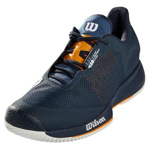 Men`s Kaos Swift Tennis Shoes Outer Space and Autumn Glory