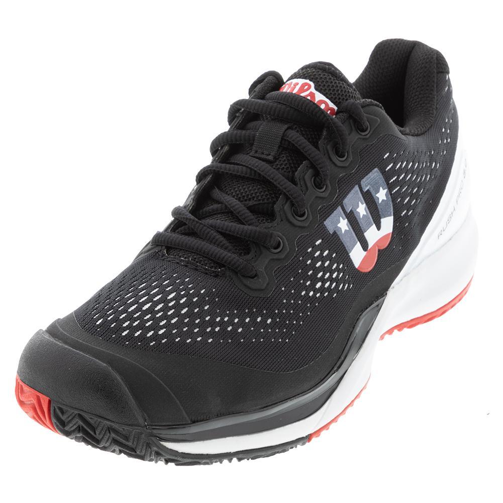 Men's Rush Pro 3.0 Pickleball Shoes Black And White
