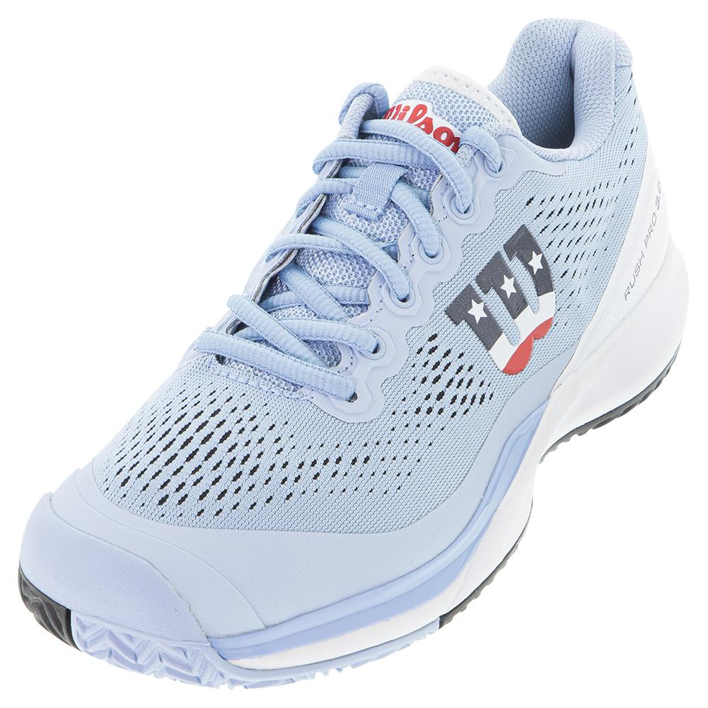 Women's Rush Pro 3.0 Pickleball Shoes Chambry Blue And White