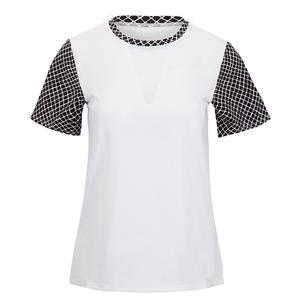 Women`s Fabiola Short Sleeve Tennis Top Chalk