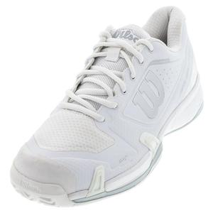 Women`s Rush Pro 2.5 Wide Tennis Shoes White and Pearl Blue