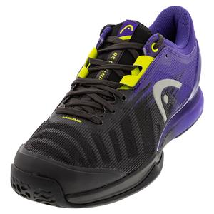 Men`s Sprint Pro 3.0 Tennis Shoes Purple and Lime