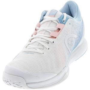 Women`s Sprint Pro 3.0 Tennis Shoes White and Light Blue