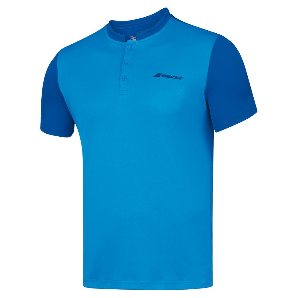 Men's Play Tennis Polo Blue Aster