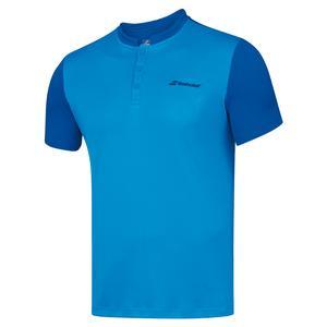 Men`s Play Tennis Polo Blue Aster