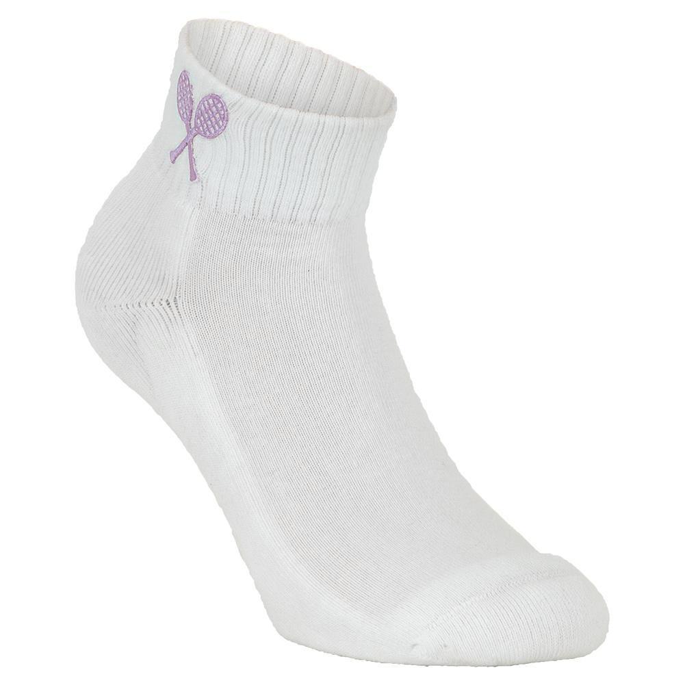 Girls ` Tennis Socks White And Lilac