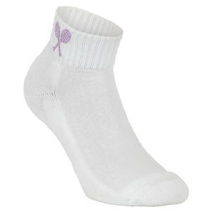 Girls` Tennis Socks White and Lilac