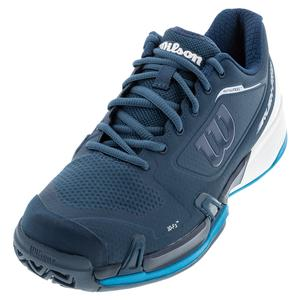 Men`s Rush Pro 2.5 Wide Tennis Shoes Majolica Blue and White
