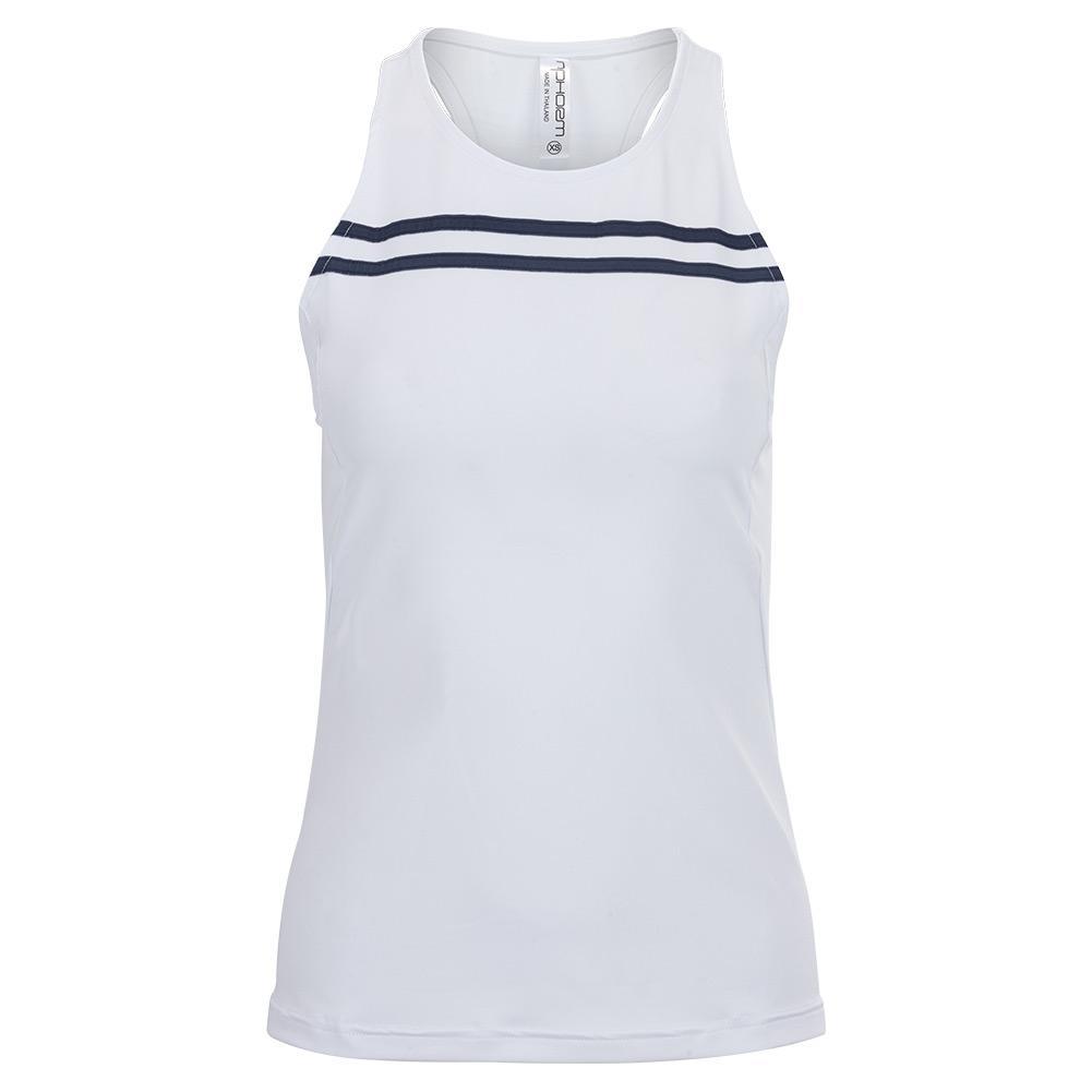 Women's New Harper Tennis Tank White And Midnight