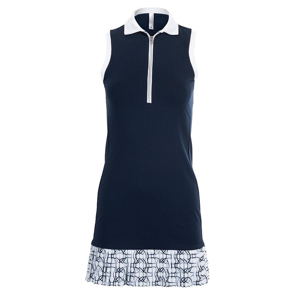 Women's Ava Tennis Dress Midnight And Print