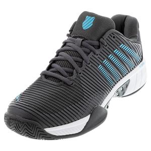 Men`s Hypercourt Express 2 Tennis Shoes Dark Shadow and Scuba Blue