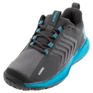 Men`s Ultrashot 3 Tennis Shoes Dark Shadow and Scuba Blue