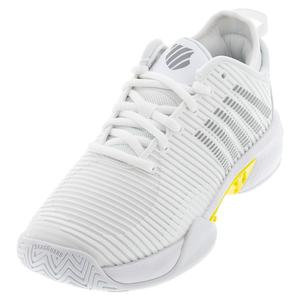 Women`s Hypercourt Supreme Tennis Shoes White and Buttercup