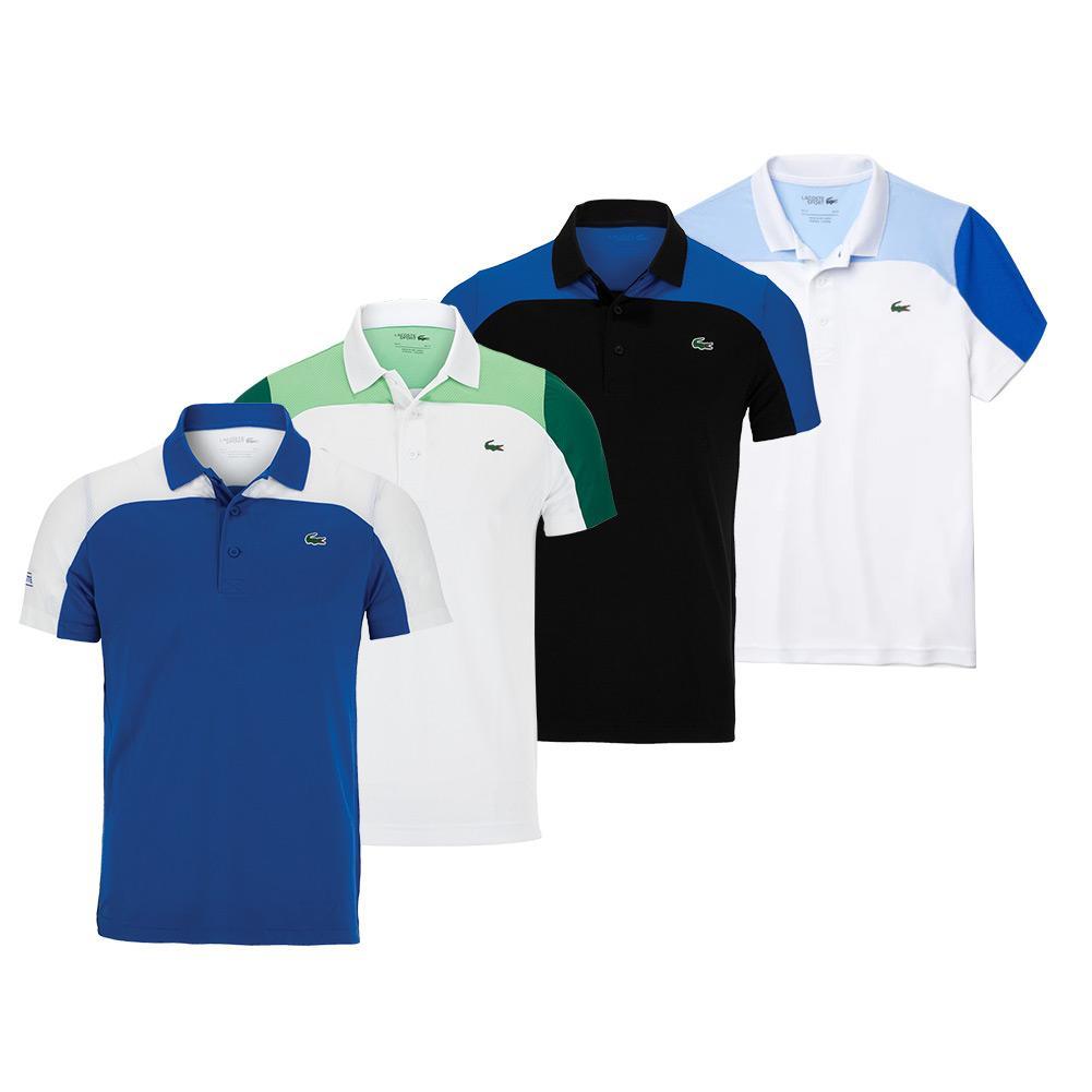Men's Chemise Col Bord- Cotes Manches Courtes Colorblock Tennis Polo