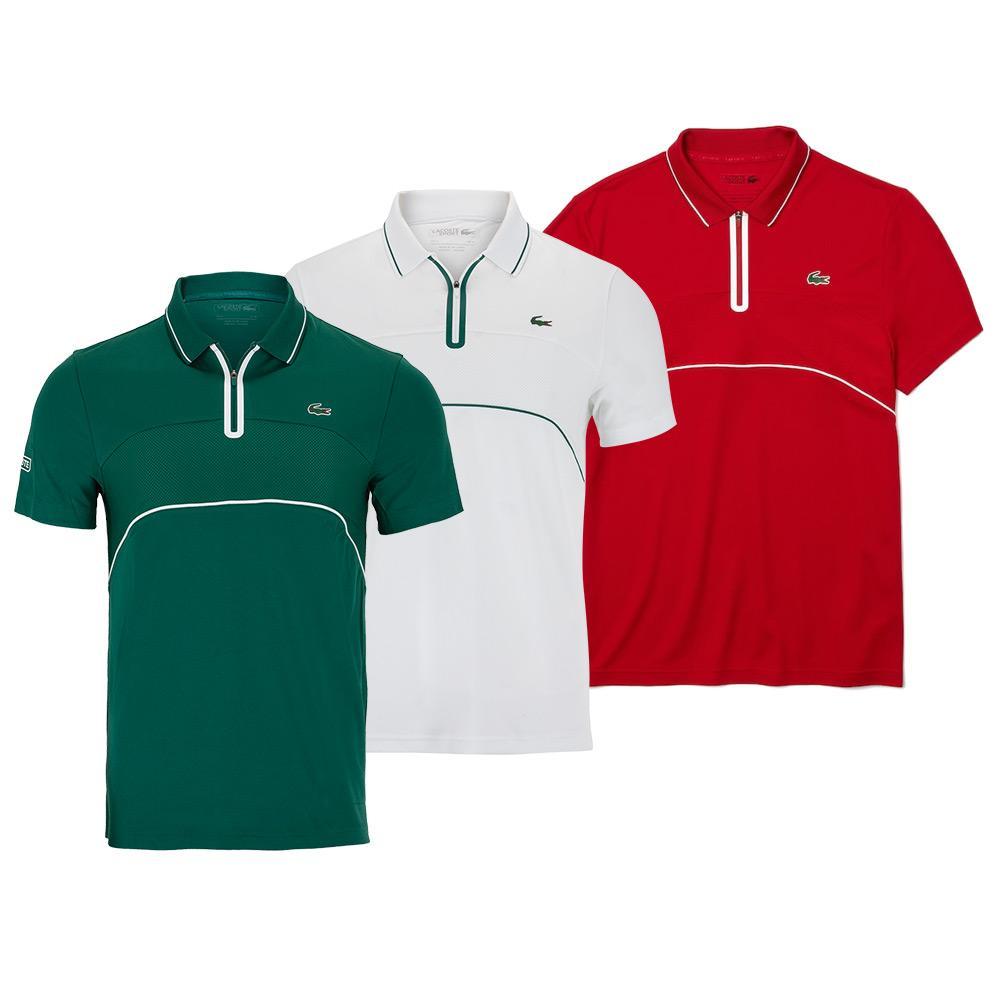Men's Chemise Col Bord- Cotes Manches Courtes Tennis Polo