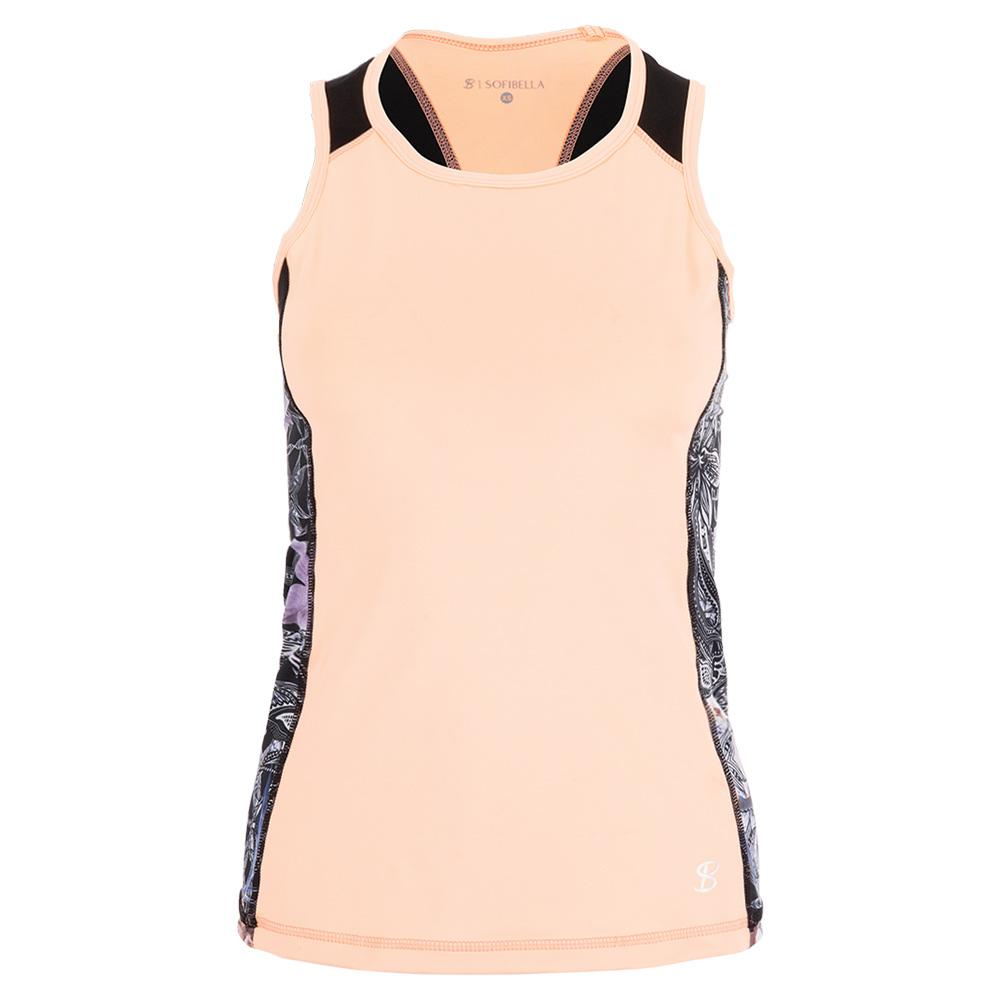 Women's Racerback Tennis Tank Souffle And Orchid