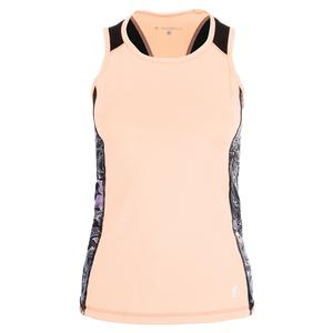Women`s Racerback Tennis Tank Souffle and Orchid