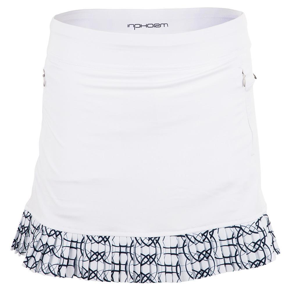 Women's Cleo 15 Inch Tennis Skort White And Midnight Print