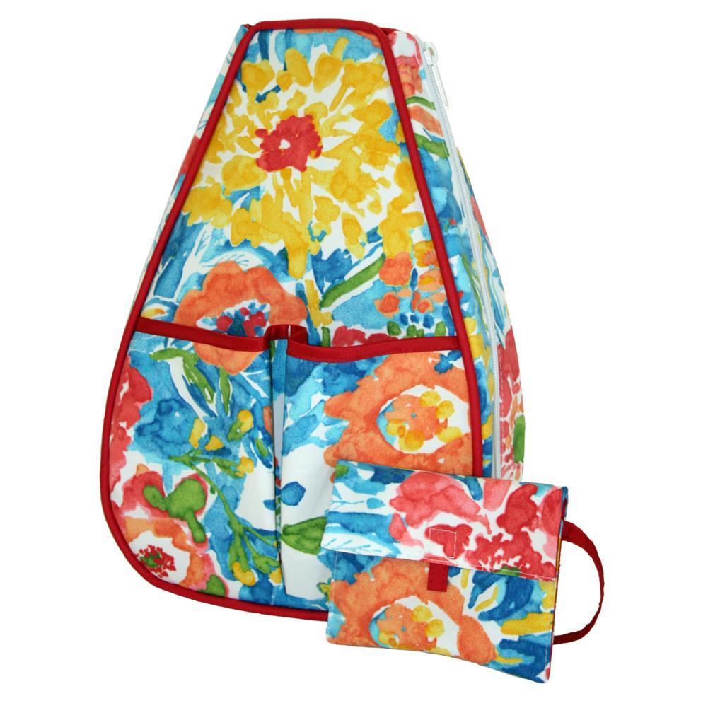 Women's Sophi Tennis Backpack Watercolor Flowers