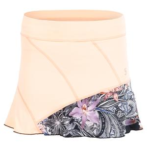 Women`s 14 Inch Tennis Skort Souffle and Orchid