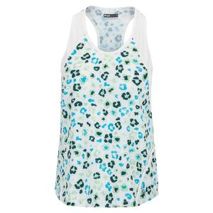 Women`s Break Tennis Tank Leopard and White