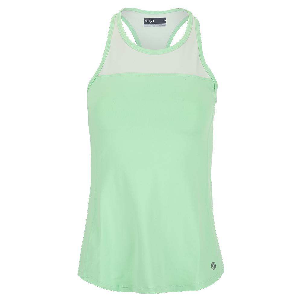Women's Bracket Tennis Tank Pistachio And Pastel Green