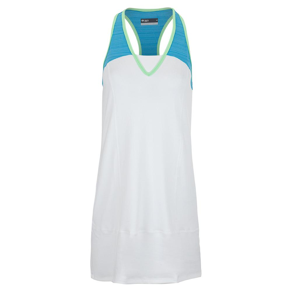 Women's Champions Tennis Dress White And Surf Blue