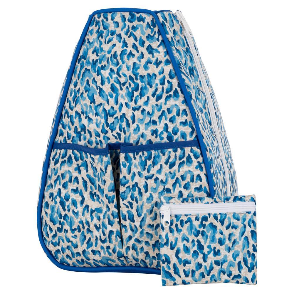 Women's Sophi Tennis Backpack Blue Cheetah