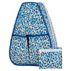 Women`s Sophi Tennis Backpack Blue Cheetah