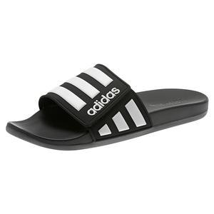 Men`s Adilette Comfort Adjustable Slides Core Black and White