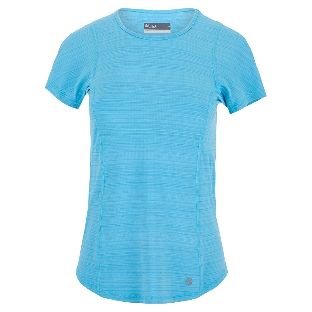 Women's Fluid Tennis Top Surf Blue