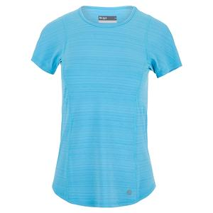 Women`s Fluid Tennis Top Surf Blue