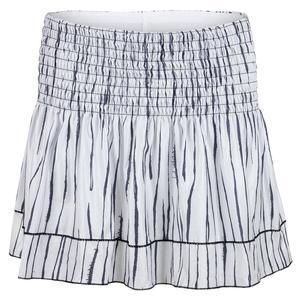 Women`s Long Smocked Tennis Skort Zebra