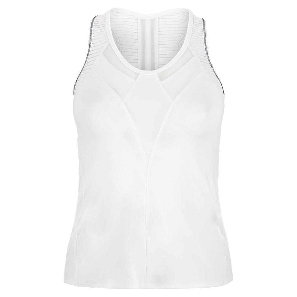 Women's Edgy Racerback Tennis Tank White And Cloud