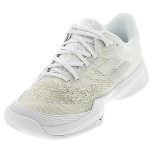 Women`s Jet Mach 3 All Court Tennis Shoes White and Silver