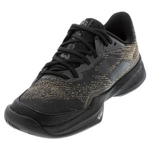 Men`s Jet Mach 3 All Court Tennis Shoes Black and Gold