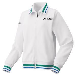 Women`s 75th Elite Warm-Up Tennis Jacket White