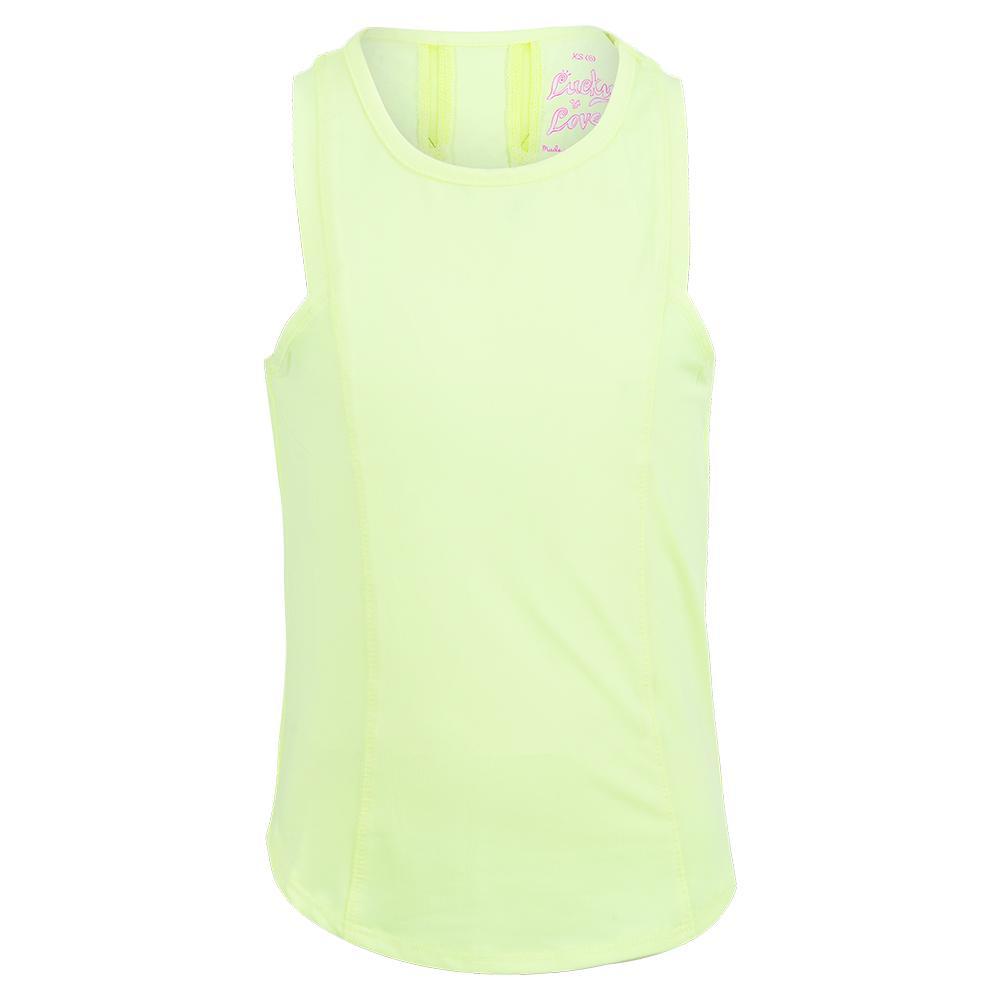 Girls'starter Tennis Tank Lemon Frost