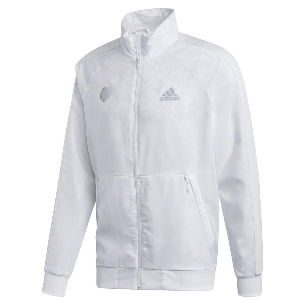 Men's Uniforia Tennis Jacket White And Reflective Silver