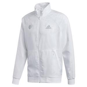 Men`s Uniforia Tennis Jacket White and Reflective Silver