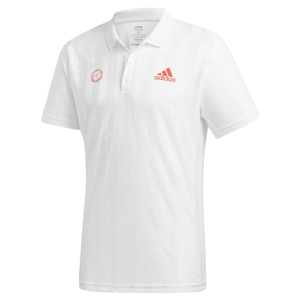 Men's Freelift E Tennis Polo White And Scarlet
