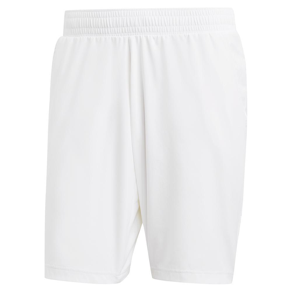 Men's Ergo Eng 9 Inch Tennis Short White And Scarlet