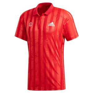 Men`s FreeLift E Tennis Polo Scarlet and Semi Flash Red