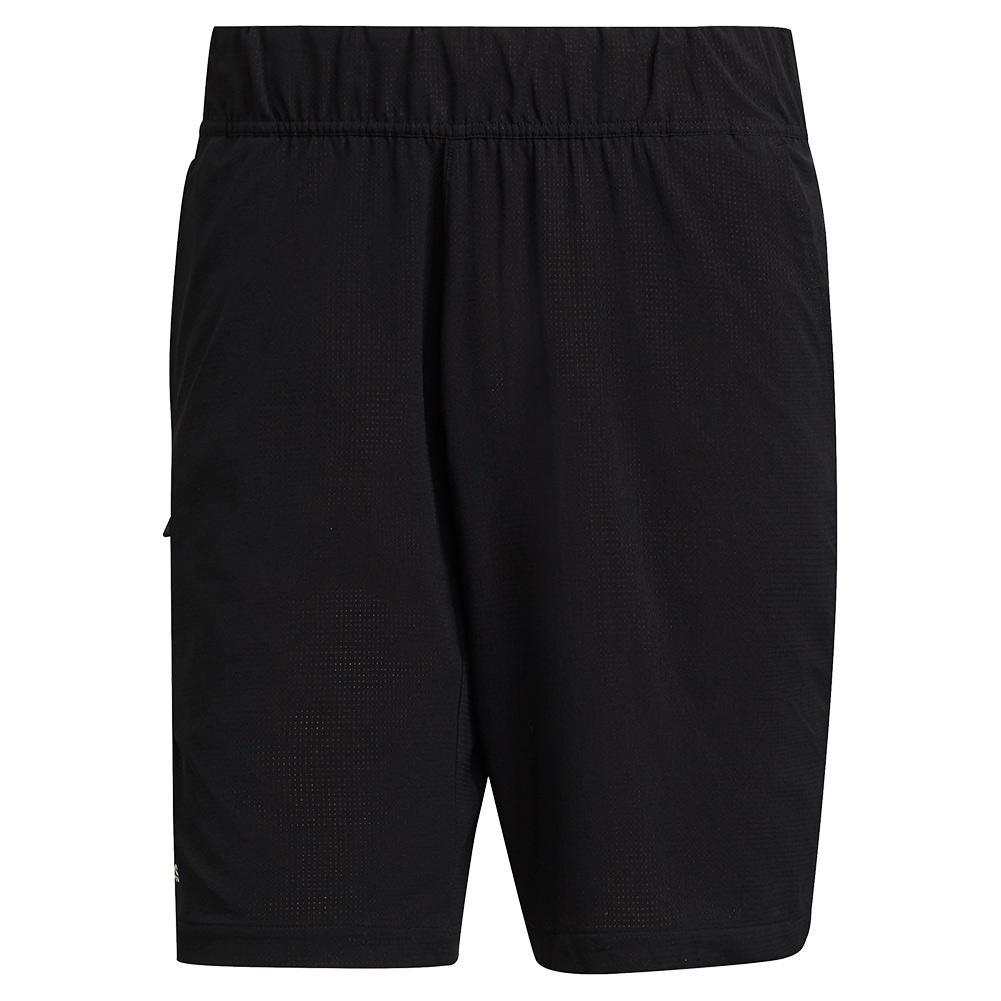 Men's Ergo 7 Inch Tennis Short Black And White