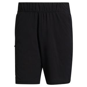 Men`s Ergo 7 Inch Tennis Short Black and White